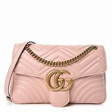 Bag Light Pink Gucci Calfskin Matelasse Medium Gg Marmont Shoulder Bag