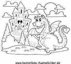 ausmalbild burg drache ausmalbilder