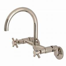 Kitchen Faucet Kingston Brass Modern Adjustable Center 2 Handle Wall