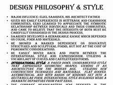 Design Philosophy Statement Eero Saarinen