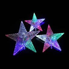 Five Star Lighting Twinsburg 2017 New L Colored Five Pointed Star Light String Medium