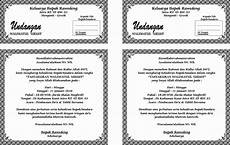 contoh undangan walimah format word contoh isi undangan
