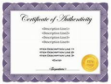 Authentication Certificate Format Free Printable Certificate Of Authentication Templates