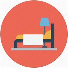 bed bedroom hotel motel room icon