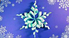 3d Paper Snowflake Modular 3d Origami Snowflake Frozen Easy Star Paper