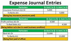 Expenses Journal Expense Journal Entries How To Pass Journal Entries For