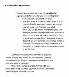 Cohabitation Agreement Sample Free 7 Cohabitation Agreement Samples In Pdf Ms Word