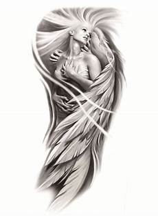 Female Angel Designs Female Angel Sleeve Tattooforaweek Temporary