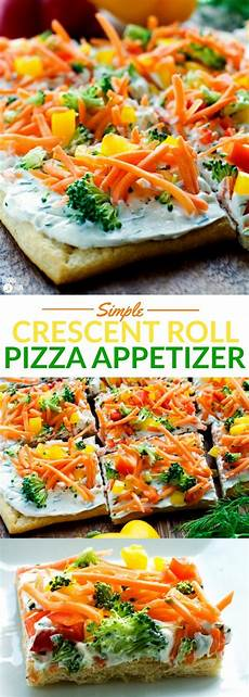 simple crescent roll pizza appetizer food folks and