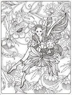 ausmalbilder elfen ausmalen mandalas malen