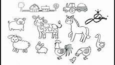 Bauernhoftiere Ausmalbilder Bauernhof Zeichnen Ganz Einfach Tiere Schnell Malen