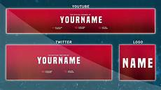 Youtube Banner Designers Awesome Red Youtube Banner Template Complete Rebrand