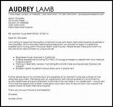 Cover Letter For Emergency Room Nurse Assistant Nurse Cover Letter Sample Cover Letter