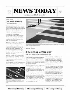 Office Newspaper Template Traditional Newspaper