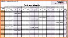 Working Schedule Format Work Schedule Spreadsheet Employee Work Schedule Template
