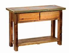 Wood Sofa Table Png Image by Teton 2 Drawer Tile Inlaid Sofa Table Rustic Furniture