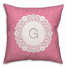 doily square throw pillow in pink and white bed bath