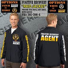 Bail Recovery Agent Fugitive Recovery Agent Raid Jacket Gun Gear Apparel
