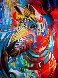 Colorful Zebra Design 2018 New Design Pop Sell Abstract Animal Zebra Oil