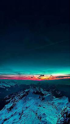Iphone 7 Wallpaper Sunset by Sky On Mountain Range Sunset Iphone 7 Wallpaper