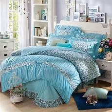 yadidi 100 cotton princess blue bedding set bedroom