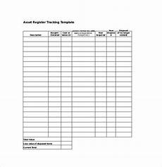 Asset Record Template Asset Tracking Template 8 Free Word Excel Pdf