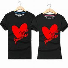 Couple T Shirt Love Design 2017 New Fashion Summer Love Couple T Shirt Together