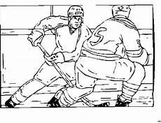 eishockey mit schlaeger ausmalbild malvorlage sport