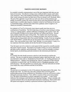 Scentific Report Writing Scientific Reports