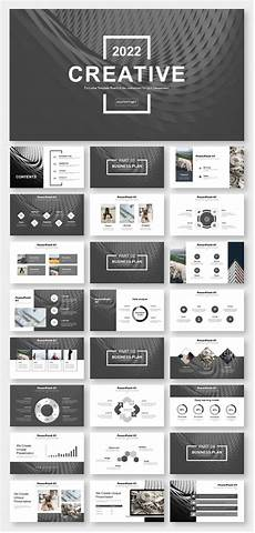 Black Powerpoint Template Black Amp White Simple Business Report Powerpoint Template