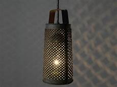 Cheese Grater Kitchen Lights Repurposed Antique Cheese Grater Pendant Light Fixture