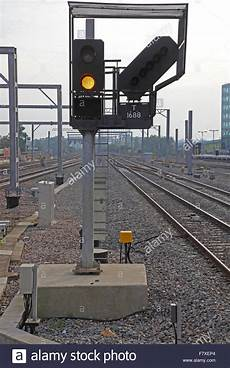 Train Light Signals Uk A New Led Train Signal Displaying A Yellow Proceed Aspect