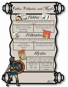 Fable Anchor Chart 2nd Grade Rl2 Fables Folktales And Myths Anchor Chart 3rd Grade Tpt