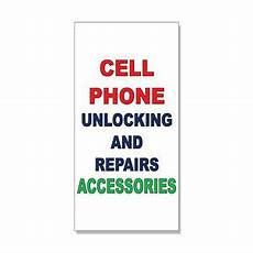 Cell Phone Store Signs Cell Phone Unlocking Amp Repairs Accessories Red Green Decal