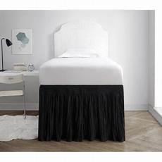 crinkle bed skirt xl black walmart