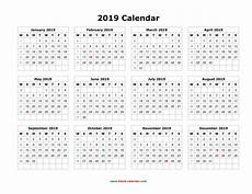 Printable 12 Month Calendar On One Page 12 Month Calendar One Page Template