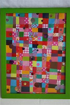 patchwork tableau pot de colle tableau patchwork acrylique et collages