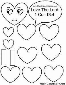 Sunday School Printables Church House Collection Blog Heart Caterpillar
