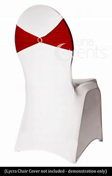 10 x new burgundy red lycra spandex chair cover bands