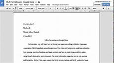 How To Format A Essay In Mla Mla Formatting On Google Docs Youtube