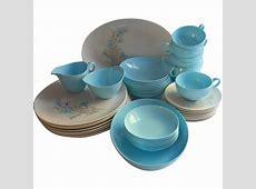 Melamine Melmac Oneida Set Turquoise Blue Dinnerware