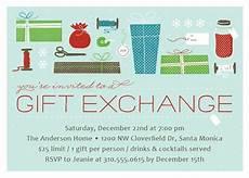 Christmas Gift Exchange Invitations Christmas Gift Exchange Holiday Party Invitations By Elli