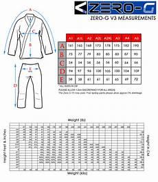 Tatami Women S Gi Size Chart Zero G V 3 Black Tatami The Gi Hive