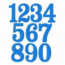 Numbers Design Template Fanfare Font