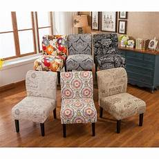 accent chair covers capa fabric armless contemporary accent slipper chair ebay