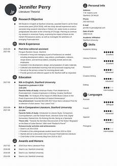 Scholarship Resume Template Curriculum Vitae For Scholarship