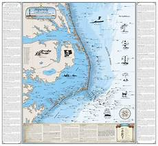 Tide Chart For Hatteras Laminated Nc Hatteras Shipwreck Chart Nautical Art Ebay