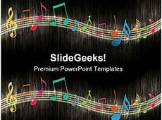 Musical Powerpoints Music Notes Background Entertainment Powerpoint Templates