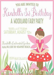 Fairy Party Invite Custom Fairy Birthday Invite Pixie Party By