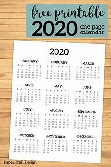 at a glance calendar 2020 calendar 2020 printable one page at a glance calendar